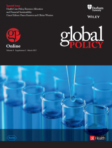 Special Issue: Health Care Policy, Resource Allocation and Financial Sustainabil