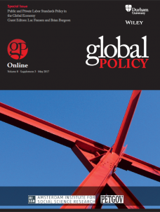 Special Issue: Public and Private Labor Standards Policy in the Global Economy