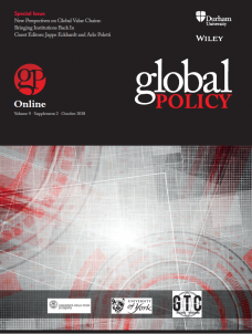 Special Issue - New Perspectives on Global Value Chains: Bringing Institutions Back In