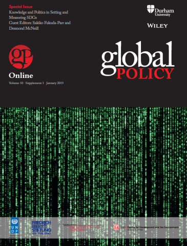 Special Issue – Knowledge and Politics in Setting and Measuring SDGs