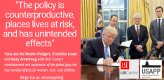 Trump's Reinstatement and Expansion of the Global Gag rule has Harmful Effects for Women, Men, and Children
